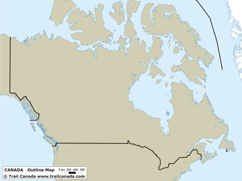 map of canada blank